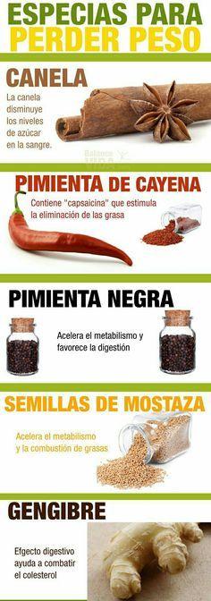 Conoce los remedios caseros para bajar de peso. #RemediosCaseros #BajardePeso #Especias #Adelgazar
