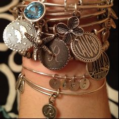 You can never have too many Alex and Ani bracelets @gabfaiella