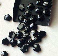 WHOLESALE 10 Pcs Black Onyx Rose Cut Cabochon by gemsforjewels