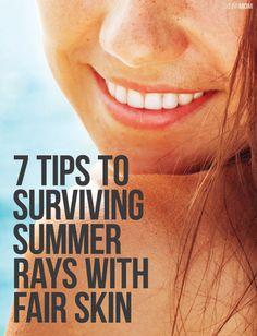 Tips for surviving summer no matter how fair your skin. | @purefiji