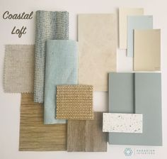 Interior Design Boards, Residential Interior Design, Mood Board Interior, Beach Interior Design, Design Interiors, Paint Colors For Home, House Colors, Coastal Decor, Coastal Style