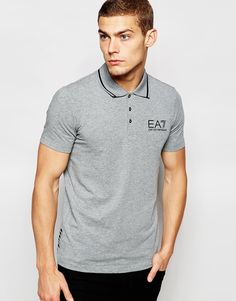 45c4d5a717 Emporio Armani EA7 Polo Shirt In Muscle Fit With Logo at asos.com