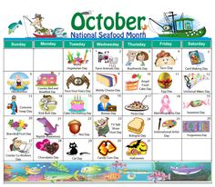 The New October Holiday Calendar Is Now Available Free Download