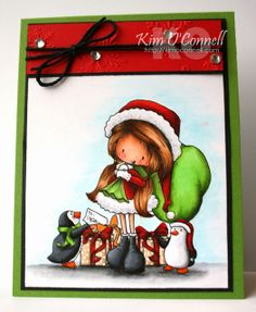 """Paper Perfect Designs by Kim O'Connell: Tiddly Inks """"Santa's Helpers"""""""