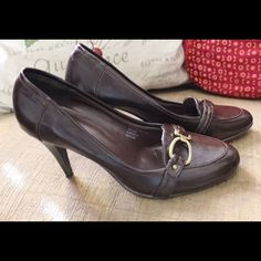 Selling this Jonathan Martin Mahogany Heels in my Poshmark closet! My username is: brimyselfandeye. #shopmycloset #poshmark #fashion #shopping #style #forsale #Jonathan Martin #Shoes