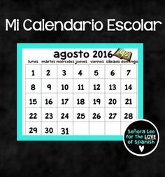 This big and bold Spanish calendar is must have for Spanish teachers of all levels. Use it daily to reinforce Spanish days of the week, months, dates, holidays or to talk about upcoming events.