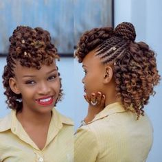 Flat Twist Styles for Natural Hair. Hi ladies. Flat twist styles for natural hair are impressive hairstyles. Your natural hair allows for creativity and can be made into different stunning and captiva Box Braids Hairstyles, Flat Twist Hairstyles, My Hairstyle, Girl Hairstyles, Black Hairstyles, Evening Hairstyles, Elegant Hairstyles, Hairstyle Ideas, Pretty Hairstyles