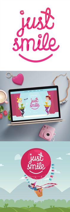 Logo dla Just Smile - sieci fotobudek. Just Smile, Logo Nasa, Beauty, Design, Beleza