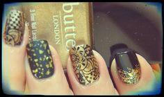 Lackopfer: [Nail Art] Goldene Zeit  #notd #nailart