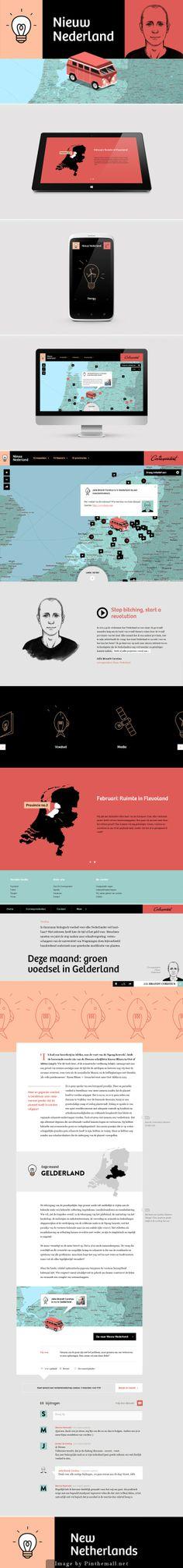 New Netherlands #webdesign #flat #design #UI