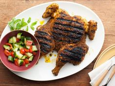 """Chef Marc Forgione's Grilled Curry Chicken """"A whole grilled chicken ..."""