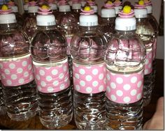 Duck taped water bottles!  Good idea for identifying which bottle belongs to who.