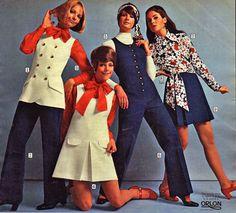 Retro Fashion Fashion for Women 60s Fashion Trends, 1960s Fashion Women, 60s And 70s Fashion, Seventies Fashion, Teen Fashion, Retro Fashion, Vintage Fashion, Womens Fashion, Vintage Style