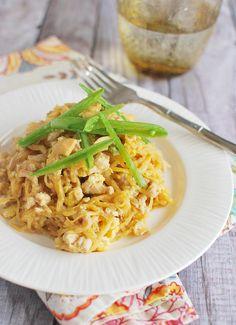 Spaghetti Squash Pad Thai - a healthy way to do Pad Thai! We love this recipe!