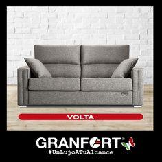 Os presentamos a Volta, un sofá cama de Sofás de Autor Granfort estilizado y moderno, ahorra espacio sin perder comodidad y elegancia en tus estancias favoritas.