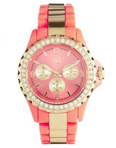 Love the ASOS River Island Plastic Bling Coral Watch on Wantering.