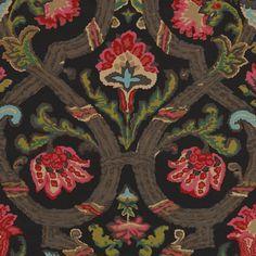 Cadiz Floral - Black - La Hacienda - Fabric - Products - Ralph Lauren Home - RalphLaurenHome.com