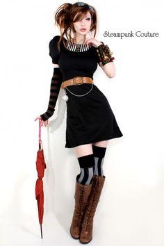 *ADORE* Alexandria bib dress [steampunkcouture] #steampunk - ☮k☮