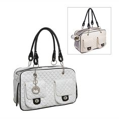 MG Collection® White Quilted Designer Inspired Faux Patent Leather Dog and Cat cat Carrier Tote Handbag ** See this awesome image : Cat Cages, Carrier and Strollers Tote Handbags, Purses And Handbags, Designer Dog Carriers, Pet Carrier Bag, Dog Purse, Cat Cages, Pet Bag, Pets For Sale, Dog Cat