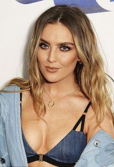 Perrie hot look in denim bra