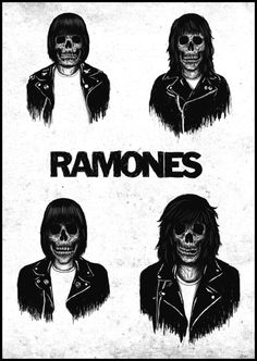 Shared by meditative. Find images and videos about black and white, rock and punk on We Heart It - the app to get lost in what you love. Rock Posters, Band Posters, Concert Posters, Music Posters, Retro Posters, Ramones, Iron Maiden, Pink Floyd, The Beatles