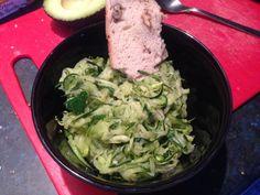 Tagliatelles de courgettes à l'huile d'olive