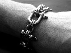 Chainmail Bracelet Stainless Steel Biker Shackle