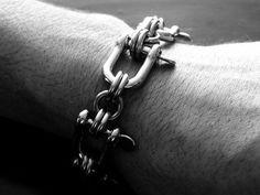 Chainmail Bracelet Stainless Steel Biker Shackle