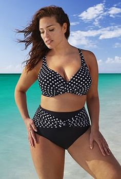 Plus Size - Swim Sexy The Crush Polka Dot Bikini