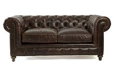 Finn Leather Sofa, Chocolate on OneKingsLane.com I would die for this couch