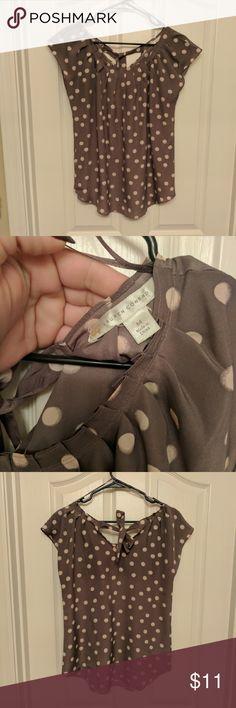 NWOT Lauren Conrad polka dot top Ties at back neck. Never worn! LC Lauren Conrad Tops