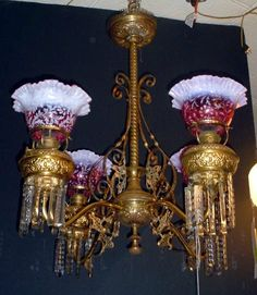 Victorian Chandeliers, Victorian Lighting, Antique Lighting, Vintage Chandelier, Vintage Lamps, Chandelier Lighting, Victorian Interiors, Victorian Furniture, All Of The Lights