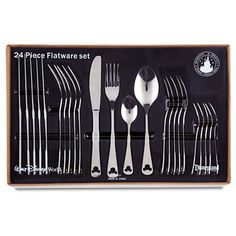 NEED.. want.. whatever.. This needs to be in my kitchen NOW!  Mickey Mouse Flatware Set | Home & Decor | Best of Mickey Mouse | Disney Store