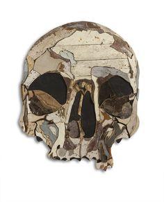 reclaimed wood skull