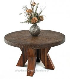 Industrial Chic Dining Table by Woodland Creek Furniture Available in Custom Sizes.