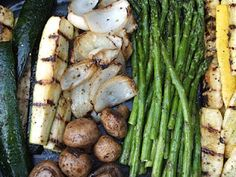 Simple grilled vegetables.