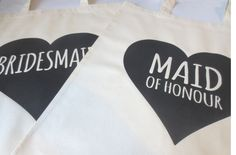 Maid of Honour Tote Bag, Bridal Party Tote Bags, Bridesmaid Tote Bag