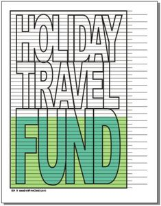 Holiday Travel Savings or Payoff Chart – Debt Free Charts Finance Jobs, Finance Quotes, Budget Worksheets Excel, I Wish You Well, Savings Chart, Debt Tracker, Money Saving Challenge, Saving Money, Budget Binder