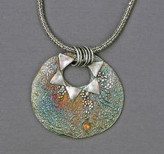 Mirinda Kossoff - fine silver, oxidized, with citrine