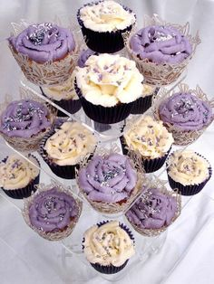 Lavender and ivory cake | Image detail for -purple and ivory cupcake wedding ... | A CUP OF CAKE