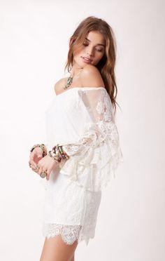 ETHEREAL BARDOT DRESS http://shopplanetblue.com/