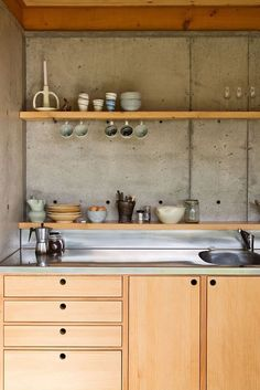 cabinet: kitchen plywood cabinets The Best Plywood Cabinets Ideas Kitchen Cost kitchen wood cabinets 2017 kitchen wood cabinets white island kitchen wood cabinets mold removal plywood kitchen cabinets uk kitchen wood cabinets wholesale Home Interior, Kitchen Interior, New Kitchen, Kitchen Dining, Kitchen Decor, Dining Room, Narrow Kitchen, Kitchen Modern, Green Kitchen