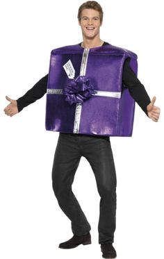 Weve got a present for you its wrapped in red paper and tied with christmas present costume solutioingenieria Image collections