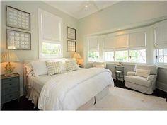 Bedroom   classy master bedroom, framed shells