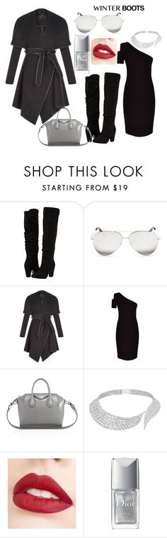 """""""Untitled #18"""" by littlemaya5 ❤ liked on Polyvore featuring Dorothy Perkins, Victoria Beckham, BCBGeneration, Jaeger, Givenchy, Messika, Jouer and Christian Dior"""