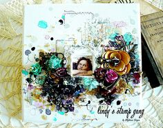 "3D Mixed Media Canvas Tutorial ""MY ANGEL"" by Stéphanie PAPIN"
