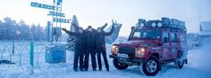 Land Rover And The Royal Geographical Society (with IBG) 2013 Bursary Winning Expedition Team Reach Pole Of Cold