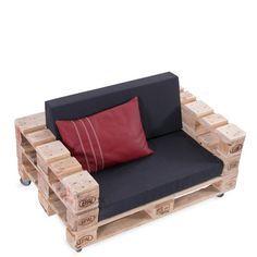 Sessel aus Paletten inkl. Polster / Palettenmöbel GUNNAR