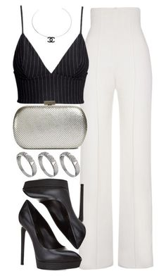 """Untitled #401"" by foreverdreamt ❤ liked on Polyvore featuring Yves Saint Laurent, H&M, Whiting & Davis, ASOS and Chanel"