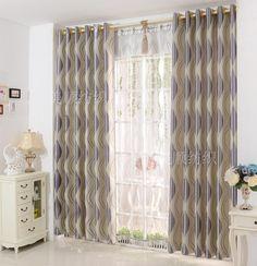 Parfait Beau Rideaux Salon Simple Moderne Bande Panne Tissu Ombre Rideaux Pour Salon  Ou Sheer